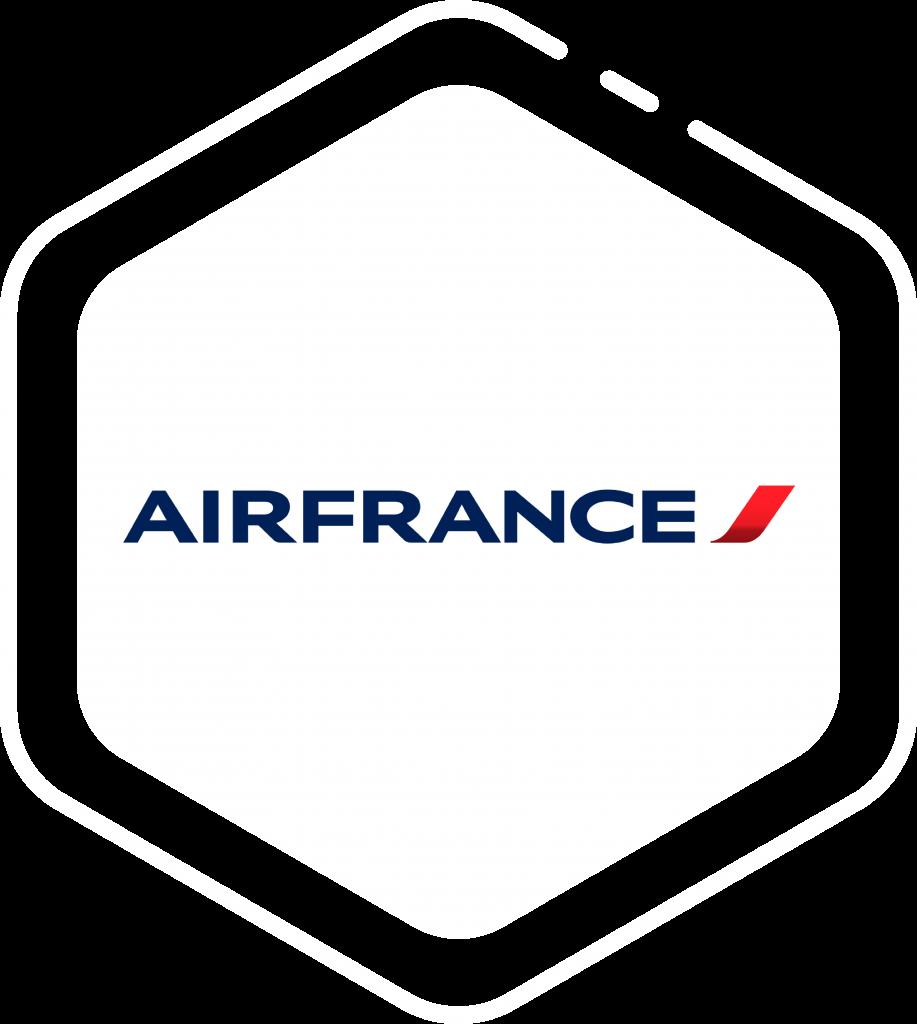 Logo client AIFRANCE sur forme hexagone blanche
